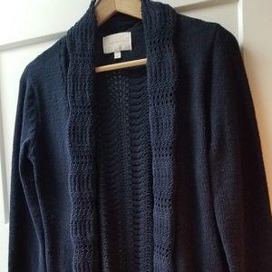 Navy waffle knit cardigan from stitch fix